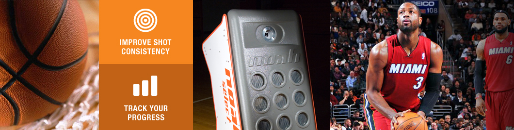 Improve shot consistency and track your progress with the Noah Basketball Training System