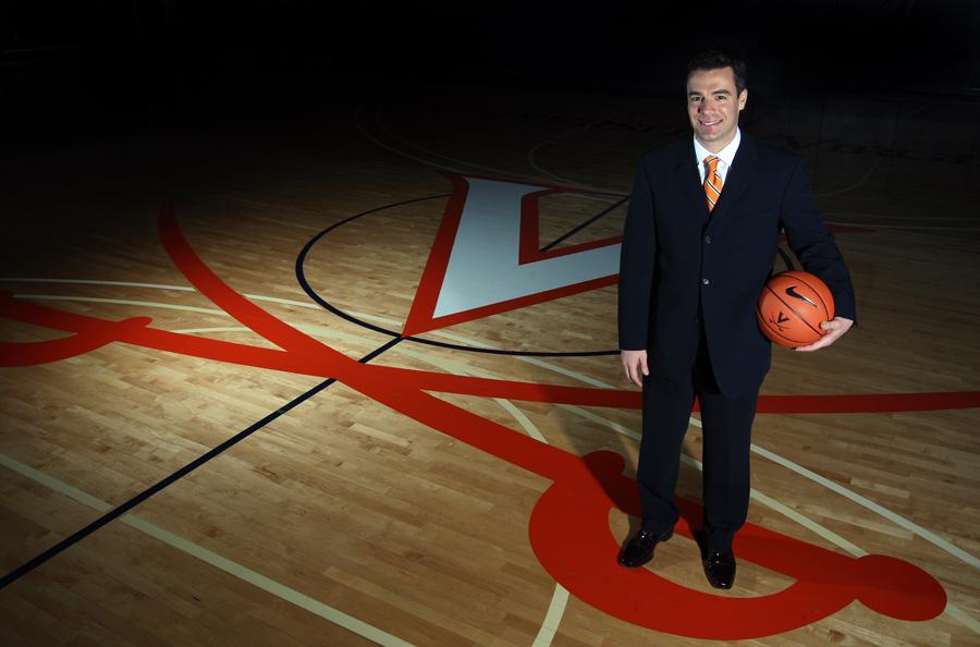 Tony Bennett on University of Virginia basketball court