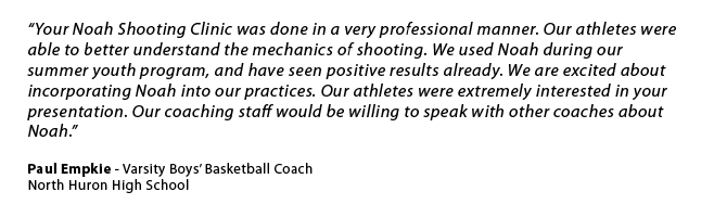 North Huron High School Shooting Clinic Quote