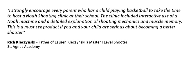 St. Agnes Academy Shooting Clinic Quote
